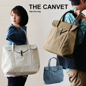 トートバッグ バッグ キャンバス フラップ トート カウレザー レディース メンズ 日本製 THE CANVET|paty
