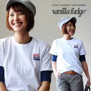 半袖 Tシャツ レディース クルーネック ロゴプリント 綿100% ボックスシルエット ユースサイズ Vanilla fudge 春夏 paty