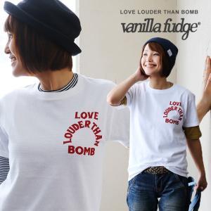 半袖 Tシャツ クルーネック ロゴプリント レディース 綿100% ボックスシルエット ユースサイズ Vanilla fudge 春夏 paty