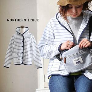 シャツパーカー パーカー シャツ ボーダー コットンリップ 配色パイピング ポケット使い NORTHERN TRUCK レディース|paty