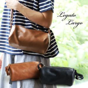 ショルダーバッグ バッグ カバン 鞄 バック 合成皮革 中国 無地 ブラウン ブラック 斜め掛け 肩掛け レディース 40代 50代 おしゃれ Legato Largo|paty