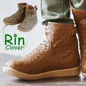Rin Clover メッシュブーツ ショートブーツ バックストラップ 合成皮革 ラウンドトゥ レデ...
