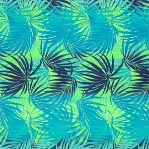 青のハワイアンファブリック ヤシ柄 fab-2556BLLG 【4yまでメール便可】|pauskirt