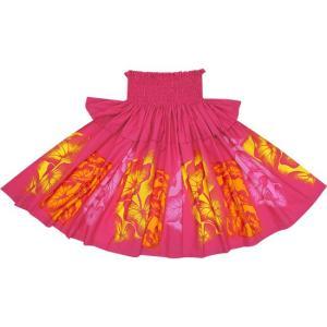 ピンクのフリルパウスカート タロ柄 Sofrill-2458Pi フラダンス 衣装 pauskirt