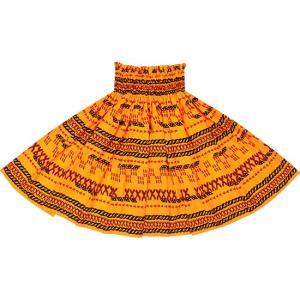 黄色のパウスカート タパ・ボーダー柄 2614YW フラダンス 衣装|pauskirt