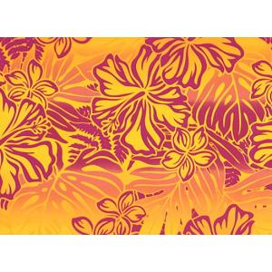 紫と黄色のハワイアンファブリック ハイビスカス・プルメリア・モンステラ柄 fab-2621PPYW 【4yまでメール便可】 pauskirt 02