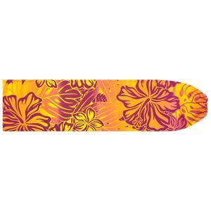 紫と黄色のパウスカートケース ハイビスカス・プルメリア・モンステラ柄 pcase-2621PPYW 【メール便可】|pauskirt
