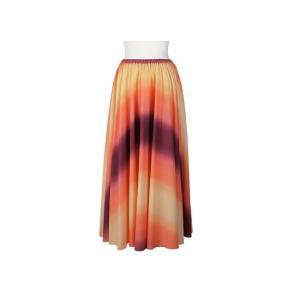 サーキュラースカート オレンジと紫の グラデーション柄 33007-2270ORPP|pauskirt