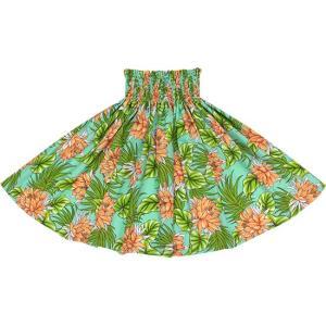 水色のパウスカート ナイトブルーミングセレウス柄 2639AQ フラダンス 衣装|pauskirt