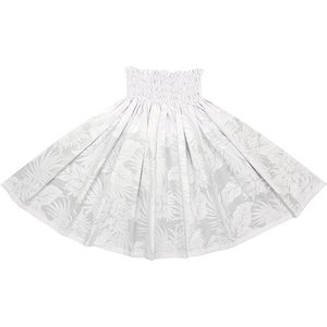 白のパウスカート ナイトブルーミングセレウス柄 2639WH フラダンス 衣装|pauskirt