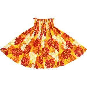 黄色のパウスカート モンステラ・パラパライ柄 2646YW フラダンス 衣装|pauskirt