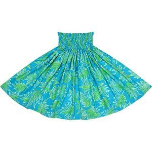 水色のパウスカート ラウアエ柄 2653AQ フラダンス 衣装|pauskirt