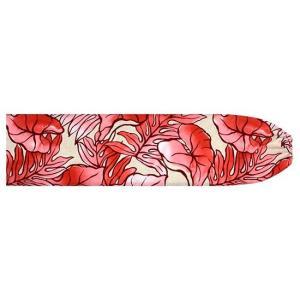 クリーム色とピンクのパウスカートケース タロ・ラウアエ柄 pcase-2655CRPi 【メール便可】|pauskirt