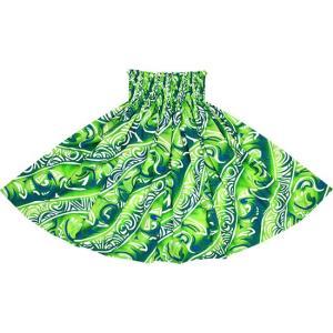 きみどりと緑のパウスカート トライバル柄 2656LGGN フラダンス 衣装 pauskirt