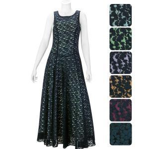 【送料無料】コードレース スリーブレス フラドレス 色とサイズが選べる 61030ds|pauskirt