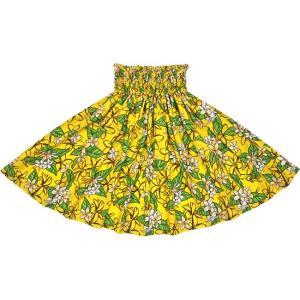 黄色のパウスカート プルメリア柄 2680YW フラダンス 衣装|pauskirt