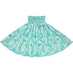 水色のパウスカート バナナリーフ柄 2681AQ フラダンス 衣装|pauskirt