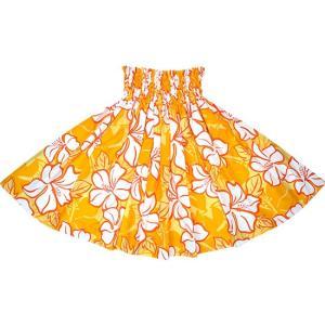 黄色のパウスカート ハイビスカス柄 2688YW フラダンス 衣装|pauskirt