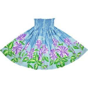 水色のパウスカート ハイビスカス柄 2690AQ フラダンス 衣装|pauskirt