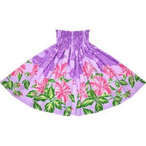 紫のパウスカート ハイビスカス柄 2690PP フラダンス 衣装|pauskirt