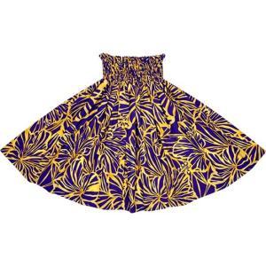 紫とオレンジのパウスカート ハイビスカス柄 2694PPOR フラダンス 衣装|pauskirt