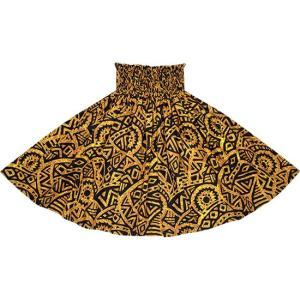 茶色のパウスカート タパ・カヒコ柄 2695BR フラダンス 衣装|pauskirt
