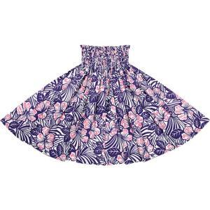 紫のパウスカート ハイビスカス柄 2696PP フラダンス 衣装|pauskirt