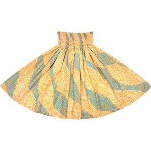 オレンジと青のパウスカート ハイビスカス・モンステラ柄 2699ORBL フラダンス 衣装|pauskirt