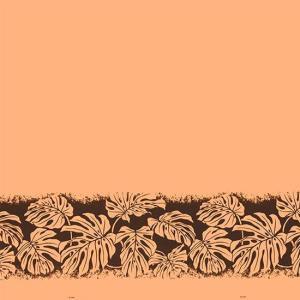 オレンジのハワイアンファブリック モンステラ柄 fab-2701OR 【4yまでメール便可】|pauskirt