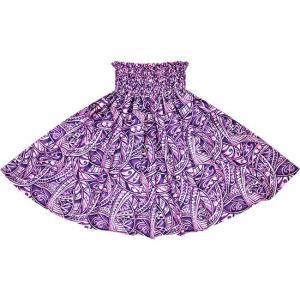 紫のパウスカート タパ・トライバル柄 2702PP フラダンス 衣装|pauskirt