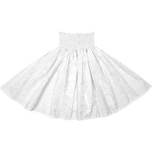 白のパウスカート タパ・トライバル柄 2702WH フラダンス 衣装|pauskirt