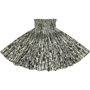 黒のパウスカート ウエーブ柄 2705BK フラダンス 衣装 pauskirt