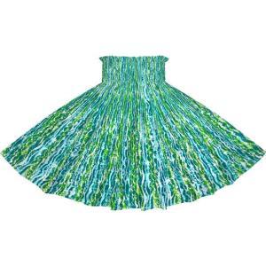 ヒスイ色のパウスカート ウエーブ柄 2705JD フラダンス 衣装|pauskirt