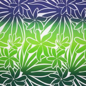 緑のハワイアンファブリック ティアレ・グラデーション柄 fab-2706GN 【4yまでメール便可】|pauskirt