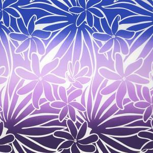 紫のハワイアンファブリック ティアレ・グラデーション柄 fab-2706PP 【4yまでメール便可】|pauskirt