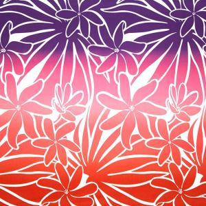 赤のハワイアンファブリック ティアレ・グラデーション柄 fab-2706RD 【4yまでメール便可】|pauskirt