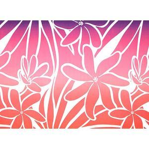 赤のハワイアンファブリック ティアレ・グラデーション柄 fab-2706RD 【4yまでメール便可】|pauskirt|02