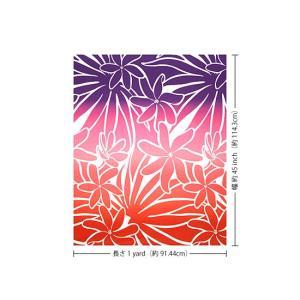 赤のハワイアンファブリック ティアレ・グラデーション柄 fab-2706RD 【4yまでメール便可】|pauskirt|03