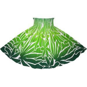 緑のパウスカート ティアレ・グラデーション柄 2706GN フラダンス 衣装 pauskirt