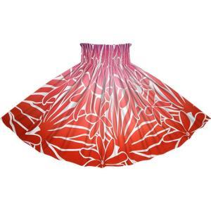 赤のパウスカート ティアレ・グラデーション柄 2706RD フラダンス 衣装|pauskirt