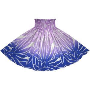 青と紫のパウスカート ティアレ・グラデーション柄 2706PP-rev フラダンス 衣装|pauskirt