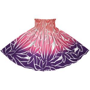 紫とピンクのパウスカート ティアレ・グラデーション柄 2706RD-rev フラダンス 衣装|pauskirt