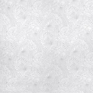 白のハワイアンファブリック モンステラ・タパ柄 fab-2707WH 【4yまでメール便可】|pauskirt