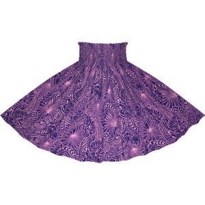 紫のパウスカート モンステラ・タパ柄 2707PP フラダンス 衣装|pauskirt