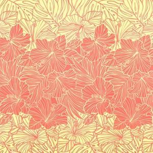 ピンクのハワイアンファブリック ハイビスカス・ヤシ柄 fab-2709Pi 【4yまでメール便可】|pauskirt
