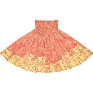 ピンクのパウスカート ハイビスカス・ヤシ柄 2709Pi フラダンス 衣装
