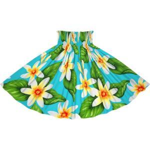 水色のパウスカート ティアレ柄 2710AQ フラダンス 衣装|pauskirt