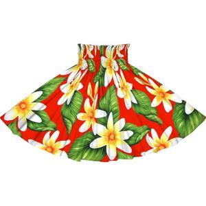 赤のパウスカート ティアレ柄 2710RD フラダンス 衣装|pauskirt