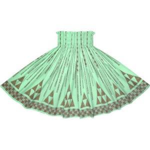水色のパウスカート オヘカパラ・カヒコ柄 2712AQ フラダンス 衣装|pauskirt