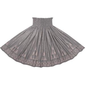 winterセール グレーのパウスカート オヘカパラ・カヒコ柄 2712GY フラダンス 衣装